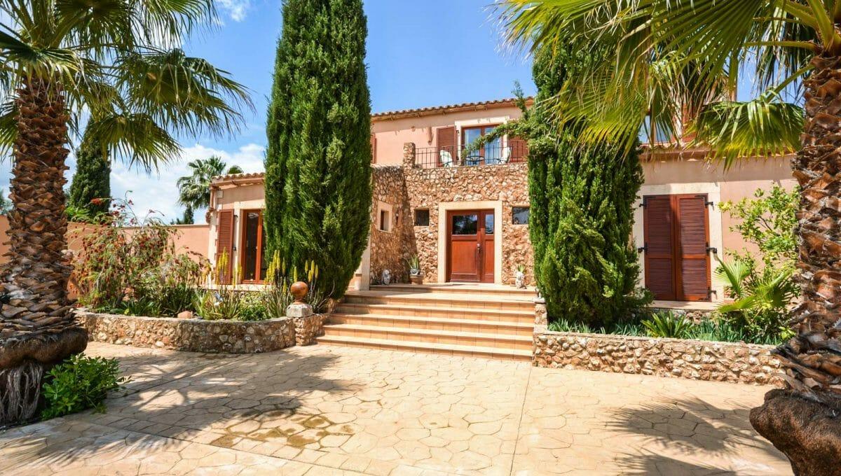 Haus Eingang Finca Felanitx