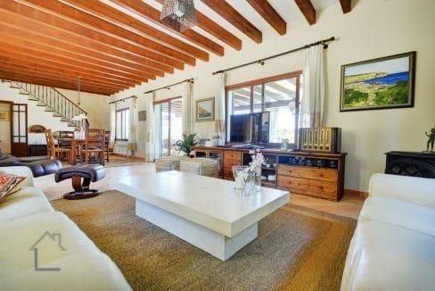 Wohnzimmer Villa Portocolom zu verkaufen