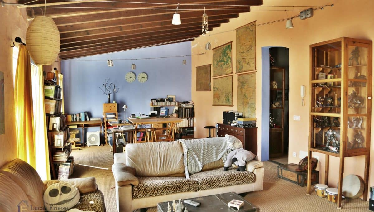 Renoviertes Stadthaus Felanitx Wohnzimmer