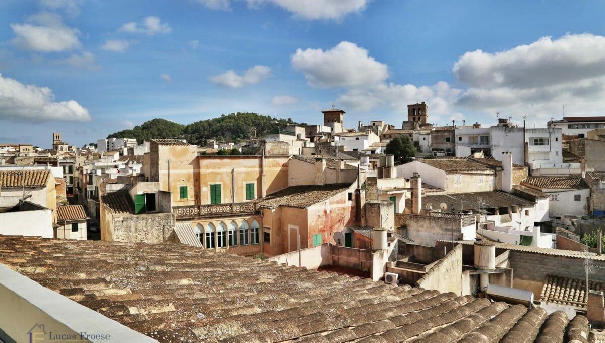 Renoviertes Stadthaus Felanitx Aussicht Terrasse