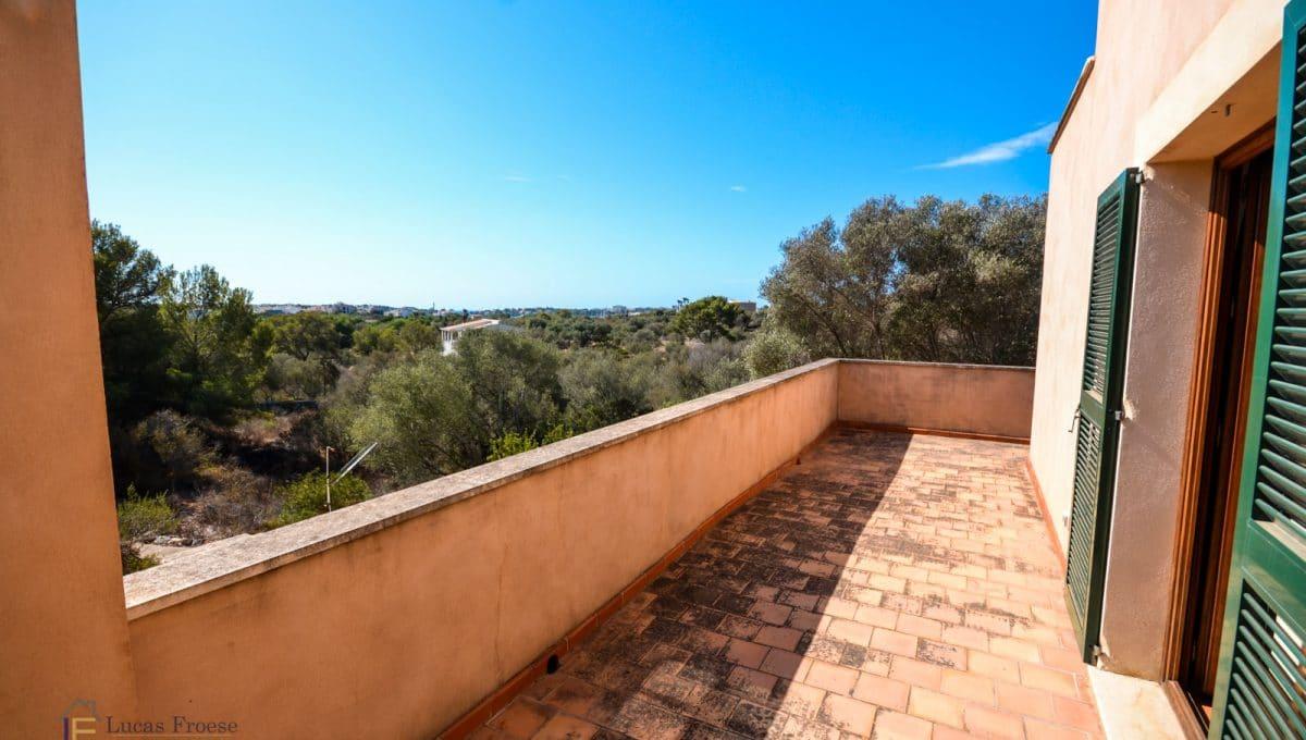 Immobilie Portocolom Terrasse mit Meerblick