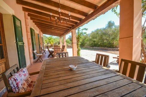 Finca Mallorca Immobilie Terrasse