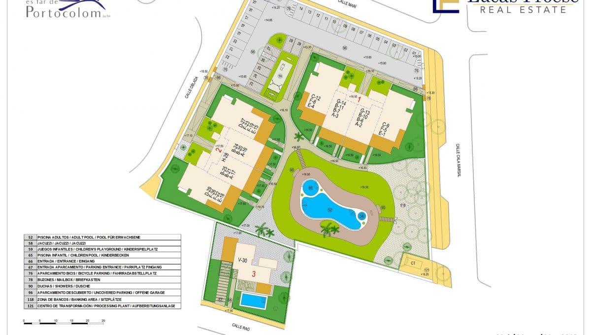Portocolom Apartment Pläne Immobilie