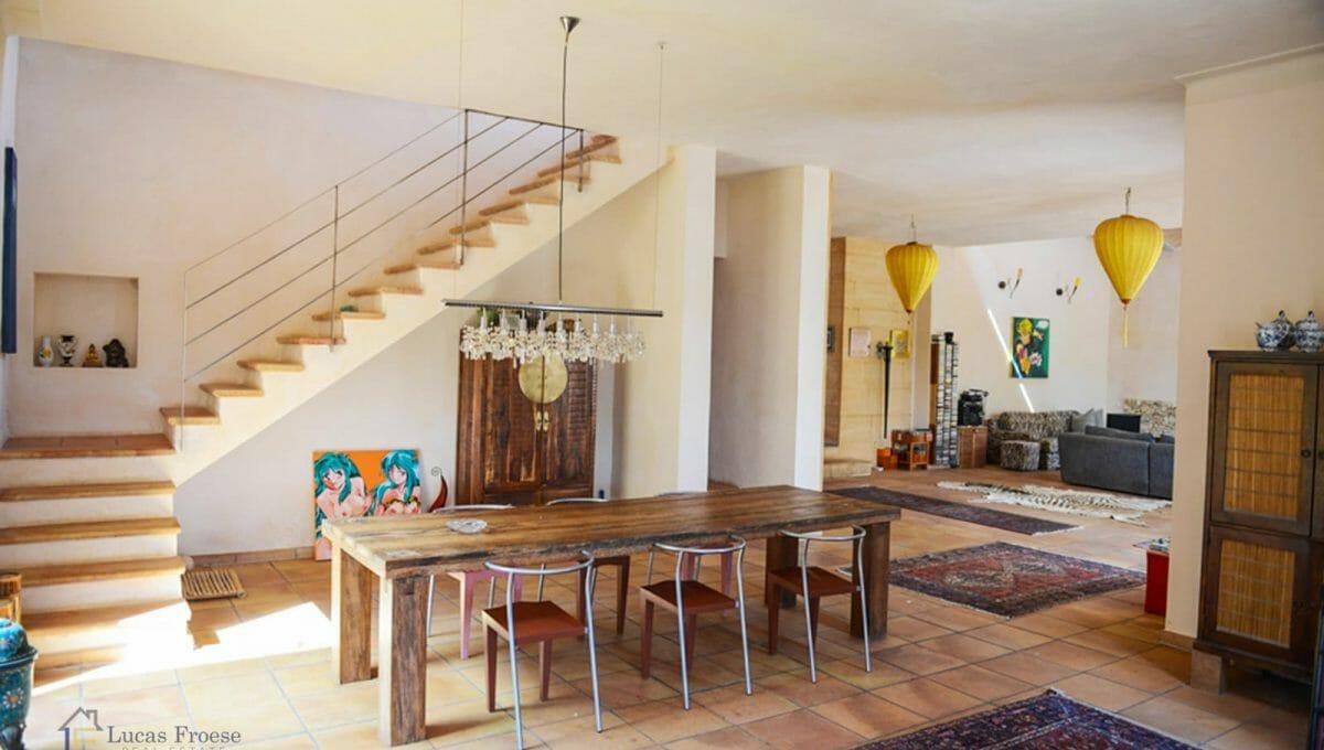 Esszimmer Wohnzimmer Finca Santanyi