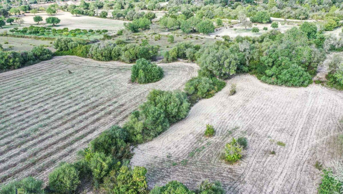 Felanitx Baugrundstück Drone