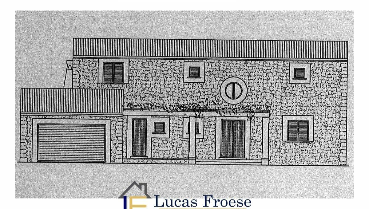 Pläne Bauprojekt Portocolom Grundstück
