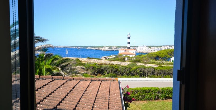 Meerblick und Leuchtturm Portocolom Mallorca