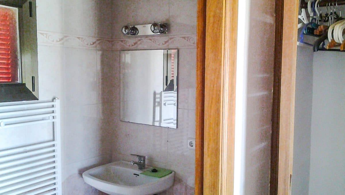 Schönes Badezimmer Typischer Wohnung Mallorca