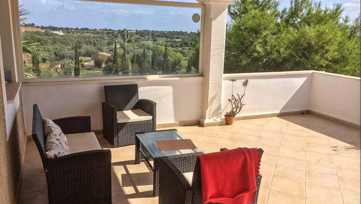 Größe Terrasse mit Blick auf Sant Llorenç Mallorca