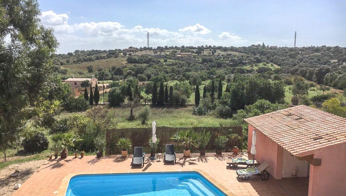 Garten mit Schwimmbad Sant Llorenç Mallorca