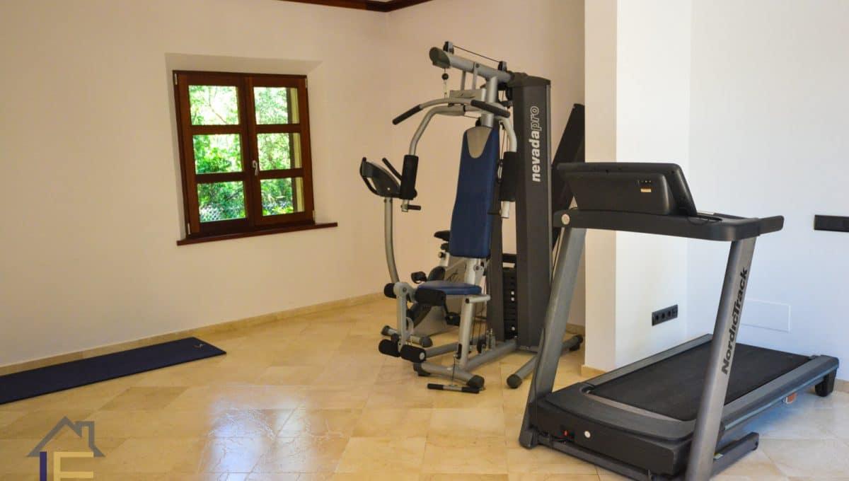 Chalet mit eigenem Fitnessstudio