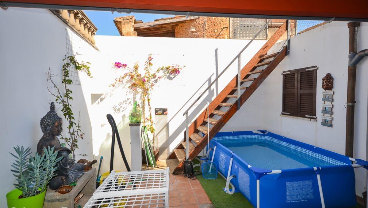 Schöne Terrasse mit Schwimmbad Wohnung Zentrum Felanitx