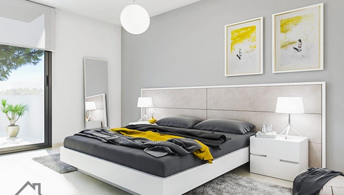 Schlafzimmer mit Doppelbett in Sa Rapita