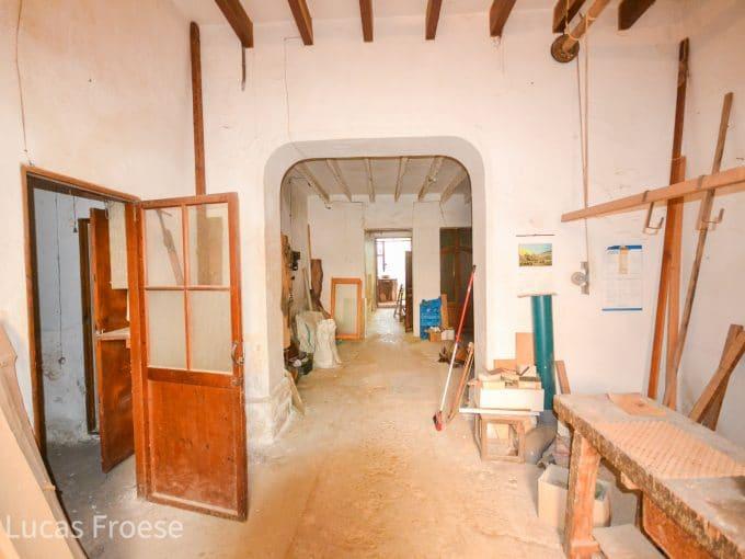 Traditioneller Eingang Wohnung Altstadt Felanitx Mallorca