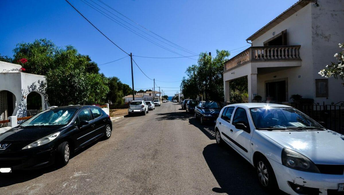 Meerblick von der Strasse in Sa Rápita