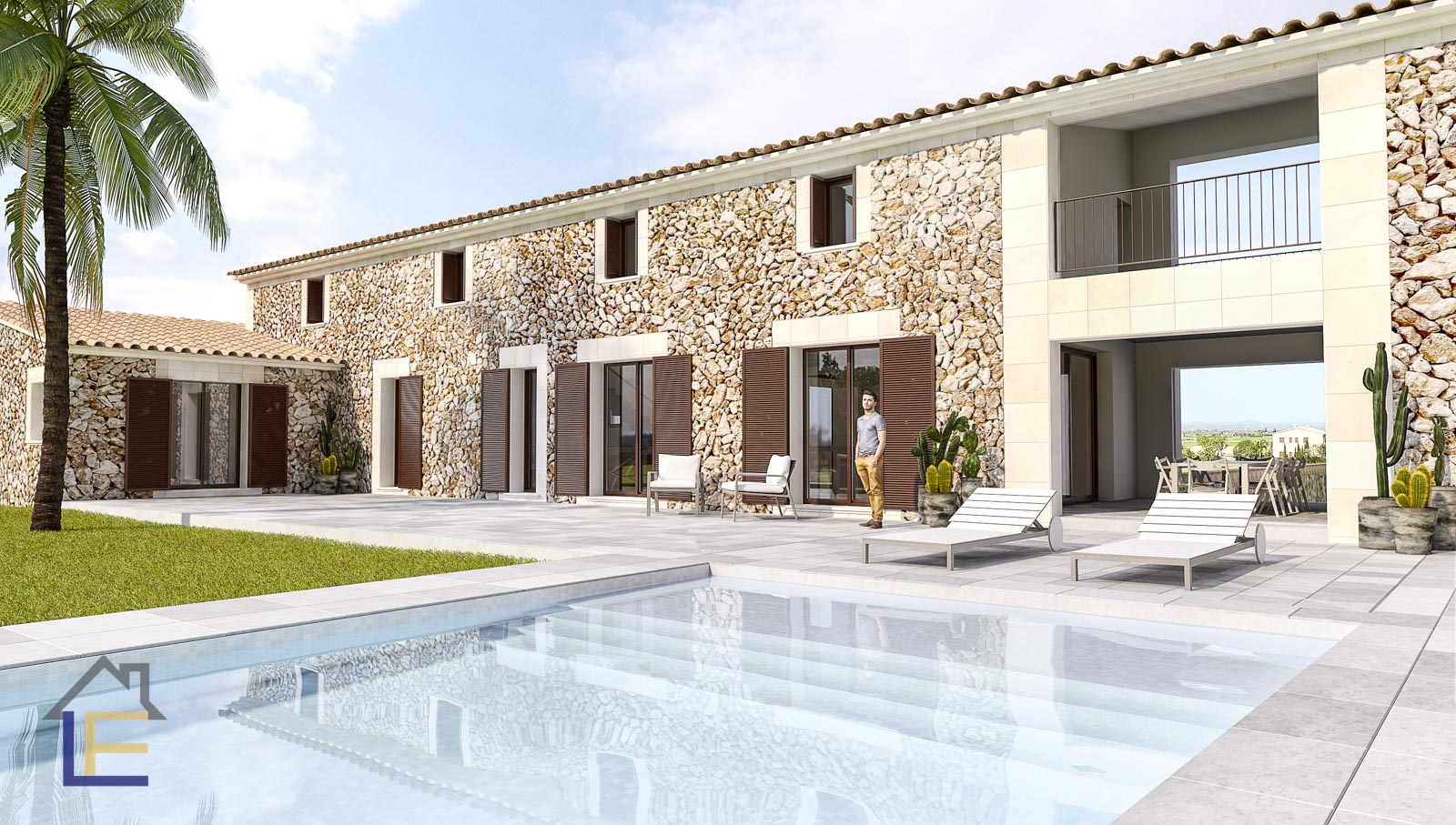Modern finca your dreams with rustic details