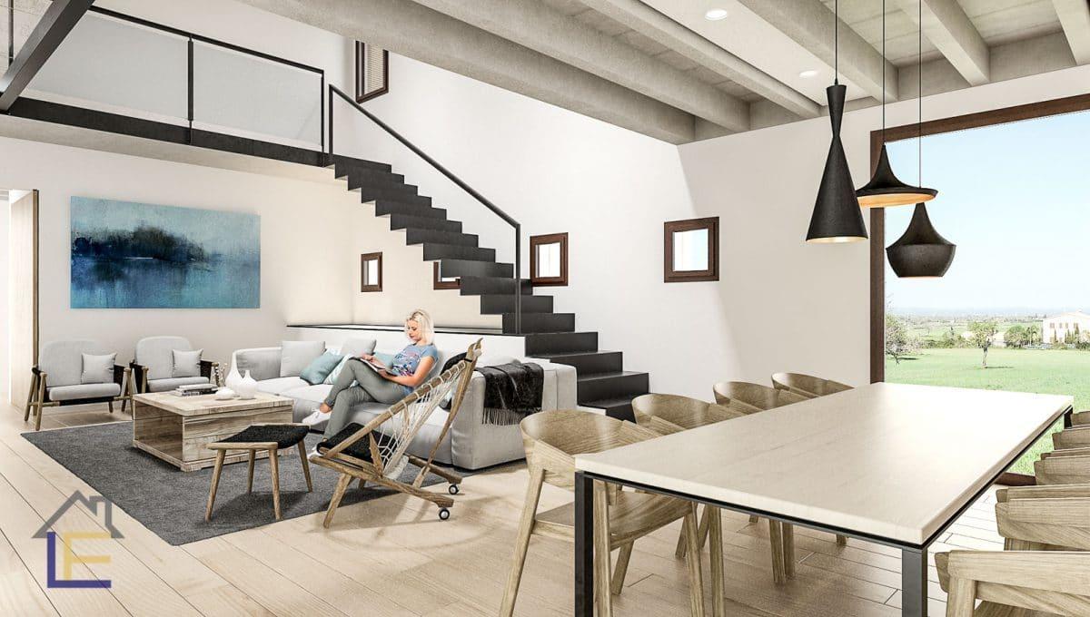Moderne wohnzimmer in ein wunderschons haus in son prohens