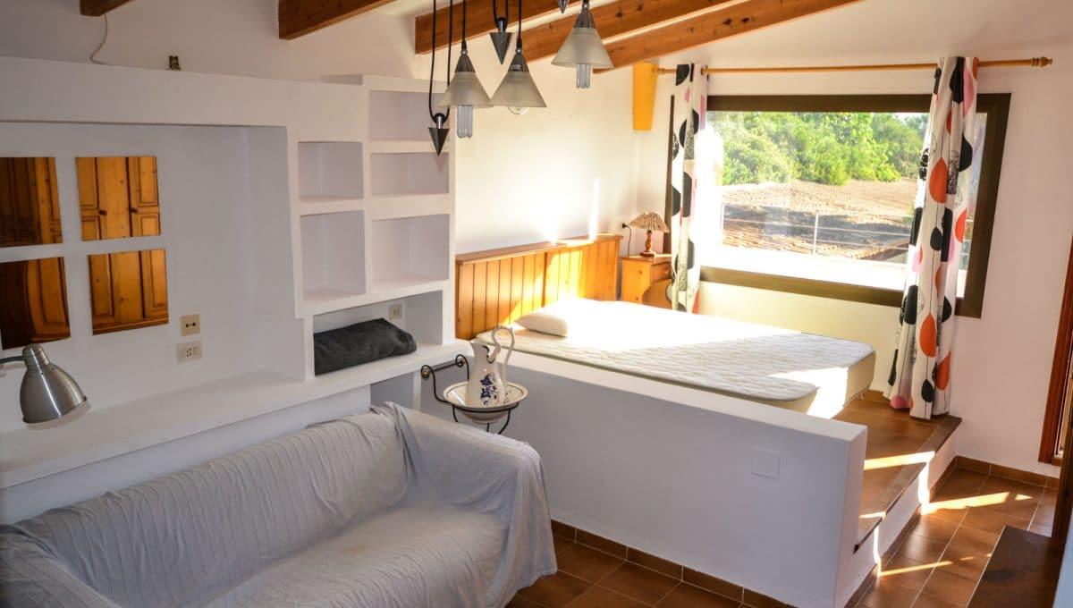 Hauptschlafzimmer mit Blick in Cala Murada
