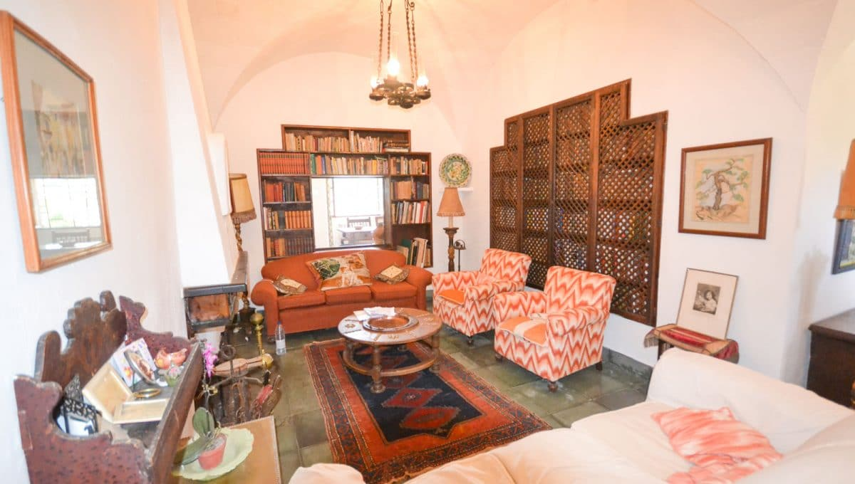 Ruhige Wohnzimmer in alte mallorquinische Style