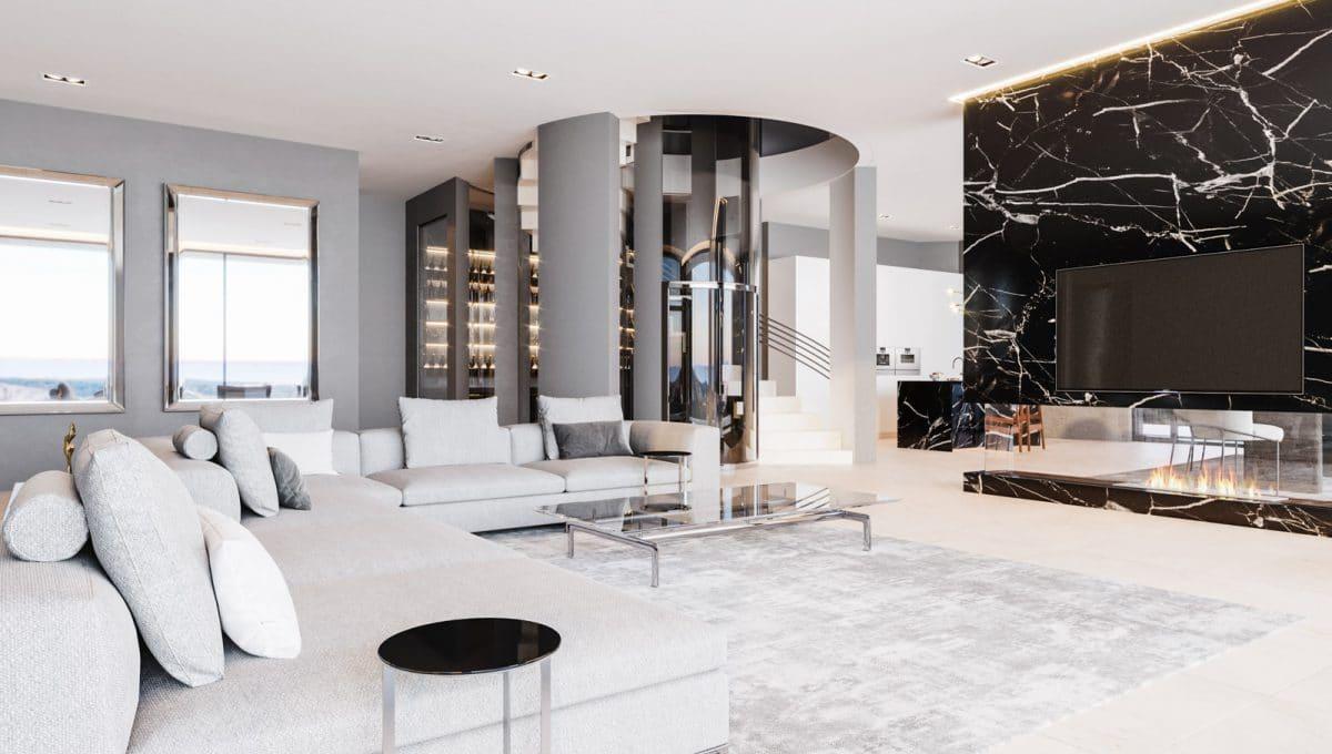 Luxus wohnzimmer in Son Vida