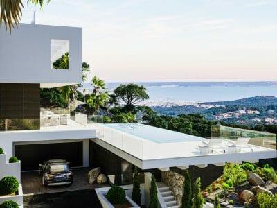 Blick auf Palma und Bahia de Palma in son Vida
