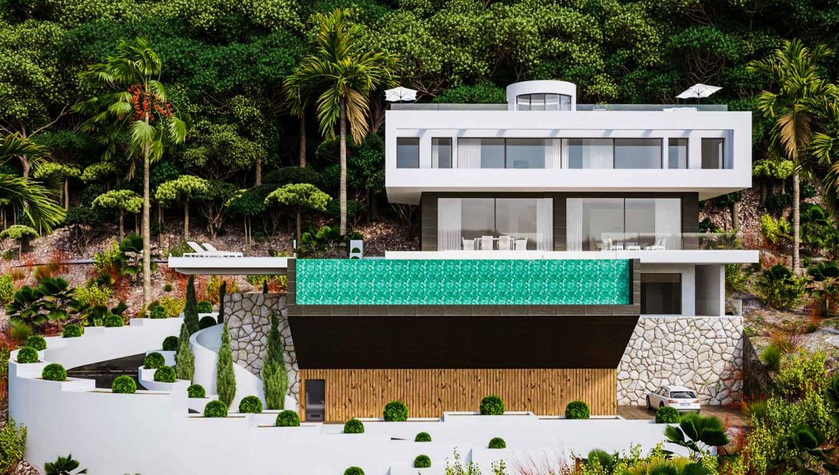 Vorderansicht der Villa in Son Vida