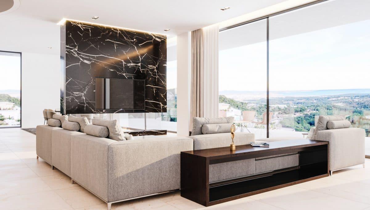 Wohnzimmer mit blick auf palma in Son Vida