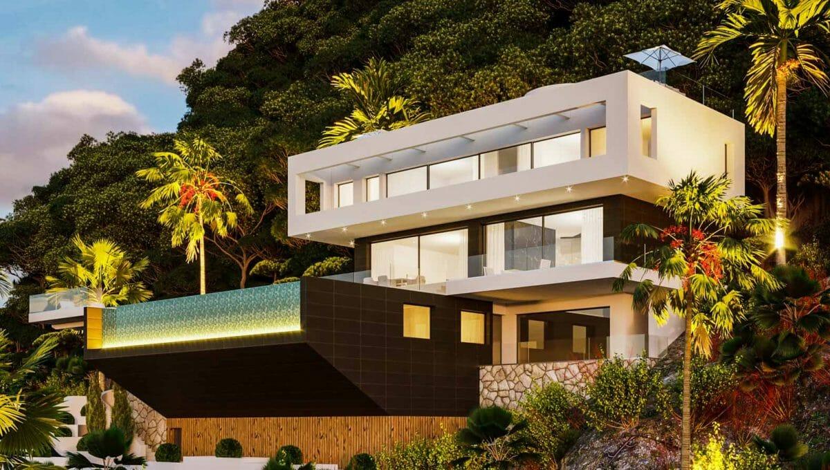 Luxus villa mit meerblick in son vida