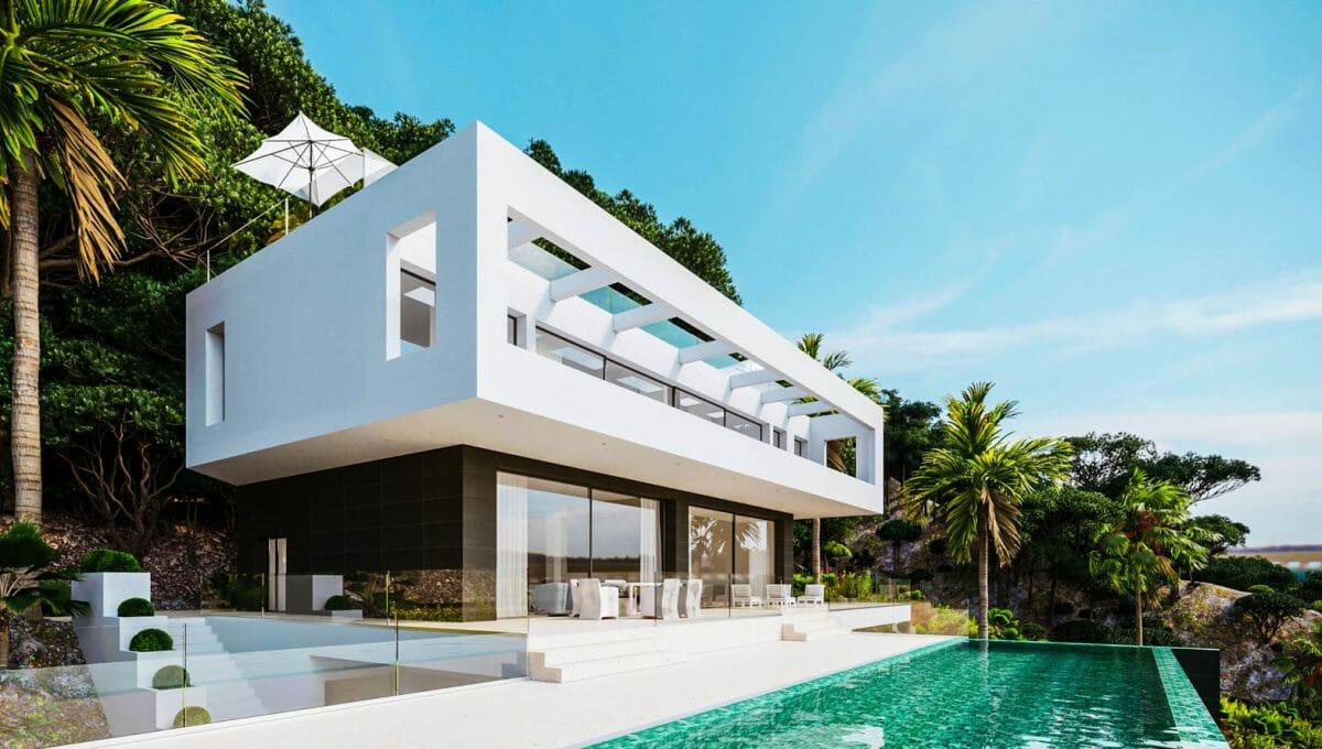 Villa in son Vida mit infinity Pool