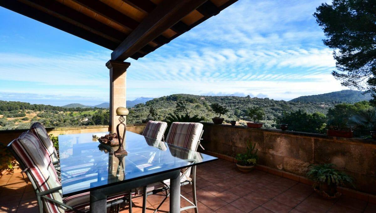 Terrasse mit elegante Blick auf Bergen en Cas Concos