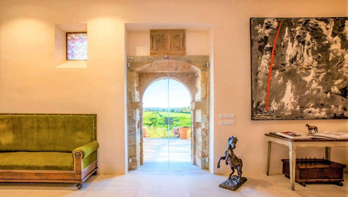 Eingang in das Haus im Mallorquin-Stil