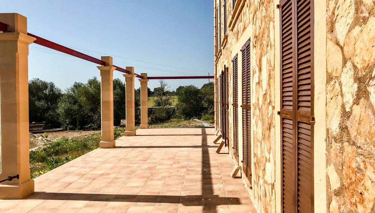 Pergolen auf den Terrassen in ses salines