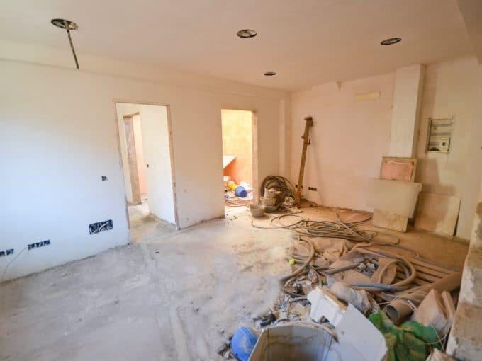 Wohnzimmer mit Innerpatio in Felanitx
