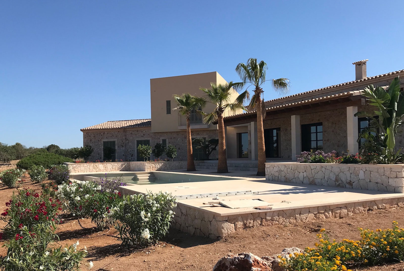 Luxury finca with swimming pool and panoramic view in Ses Salines