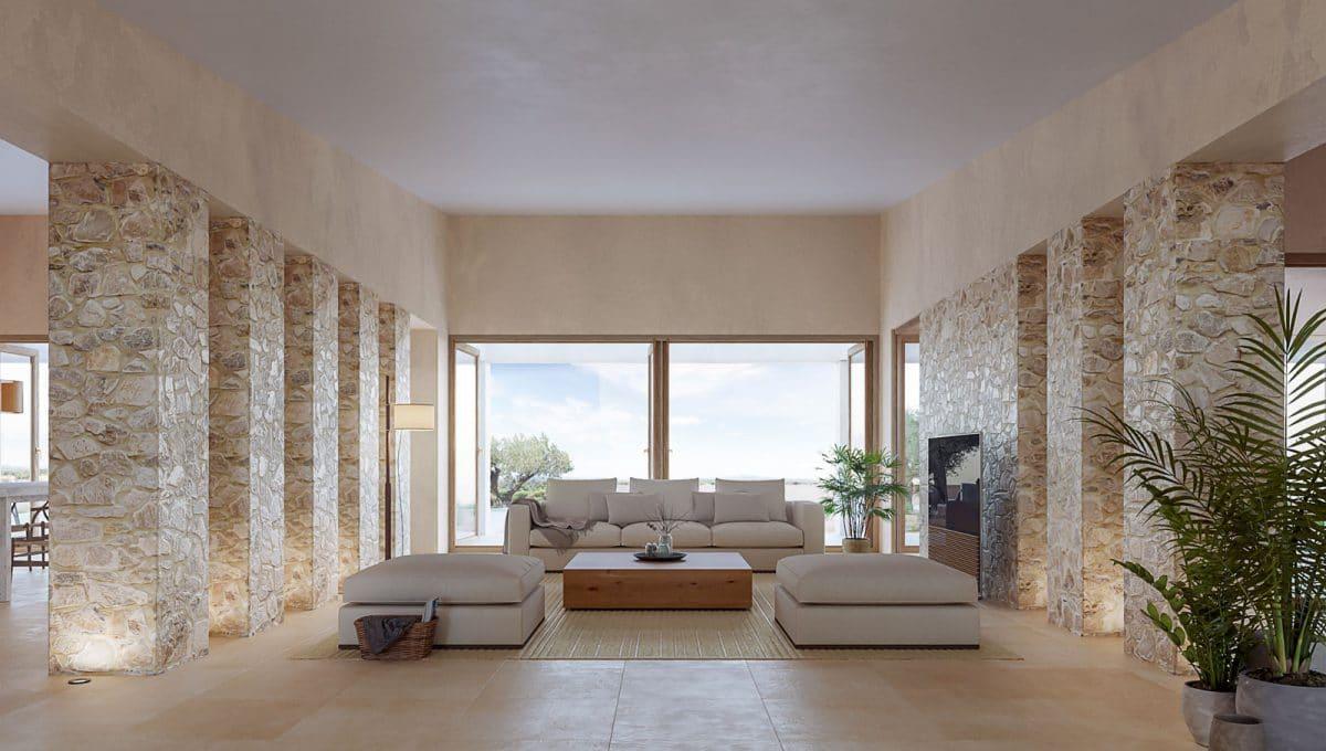 Baugrundstück mit Projekt in Santanyi Wohnzimmer