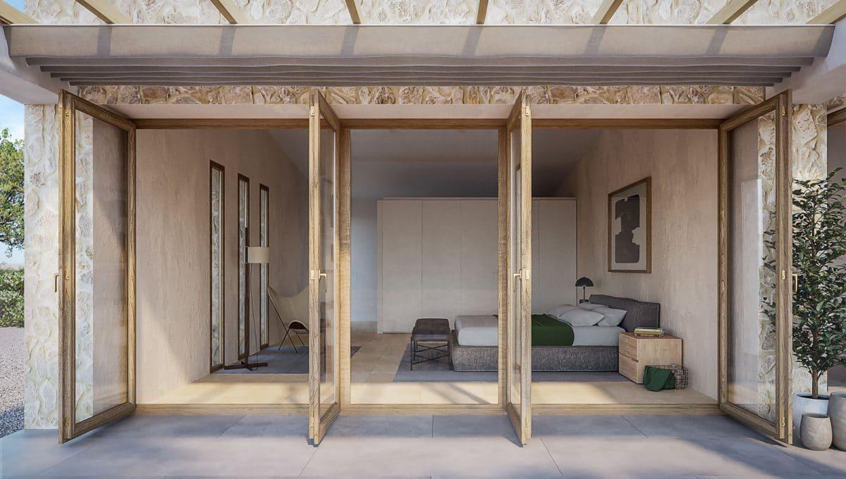 Baugrundstück mit Projekt in Santanyi Schlafzimmer