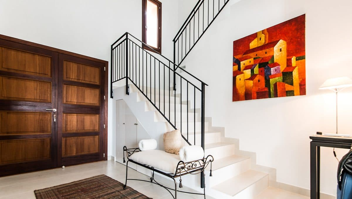 Moderne Luxus Finca Arta Eingang