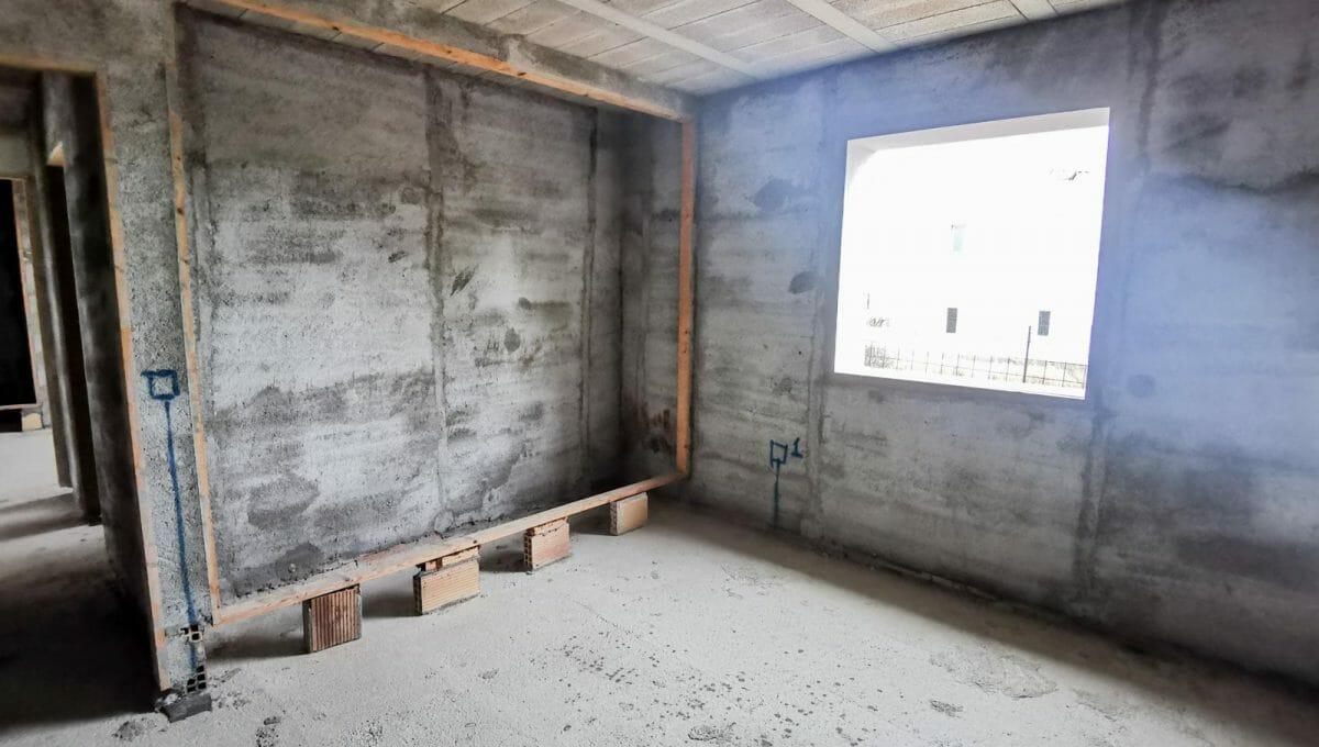 Schalfzimmer mit einbausranck