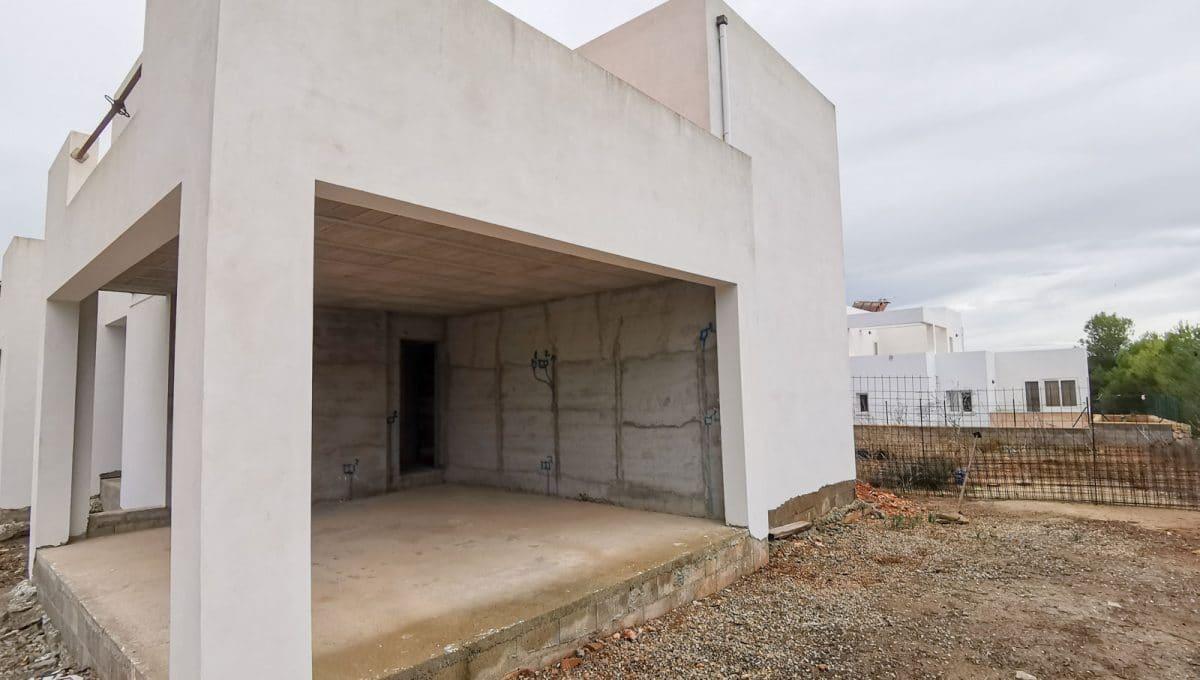 Hintere terrasse in Neubau in Cala d'Or