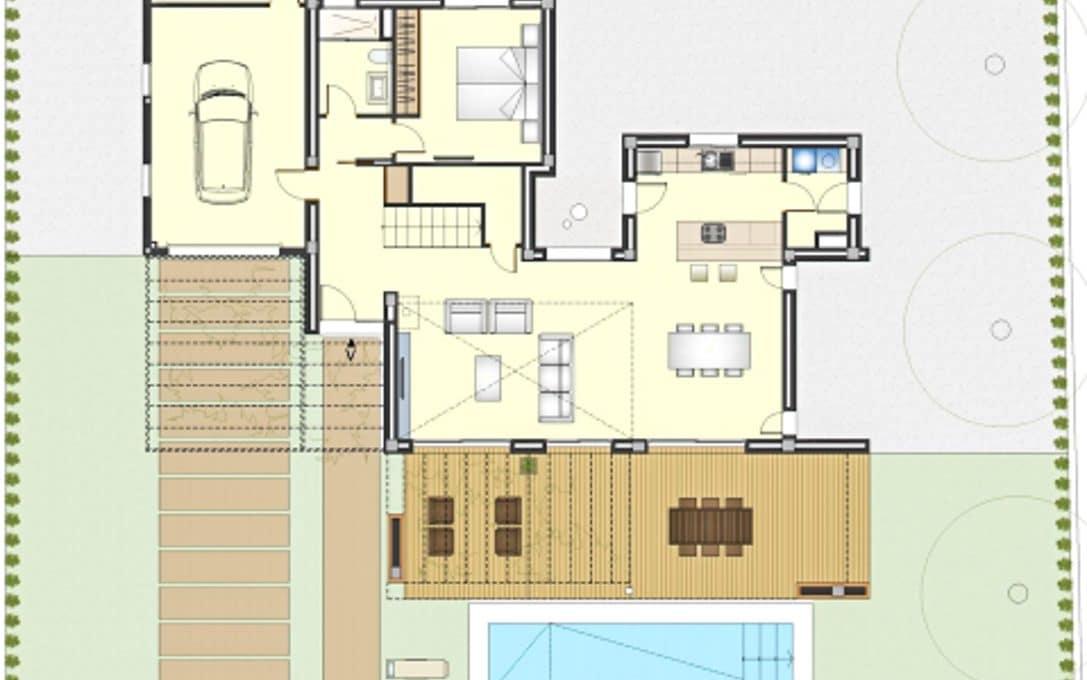 Hausplan luxus wohnung in portocolom