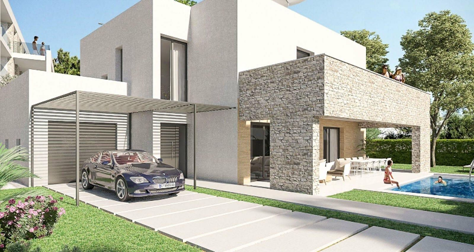 Modern new built villa in Portocolom