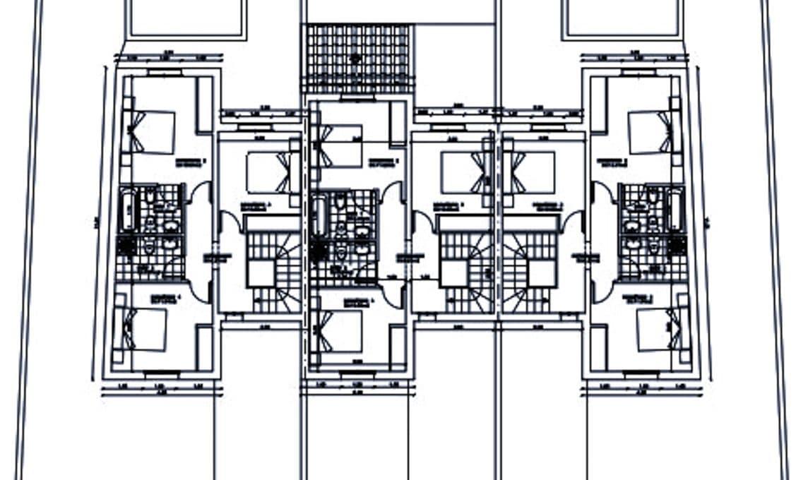 Pläne fur drei Wohnungen in Can Picafort