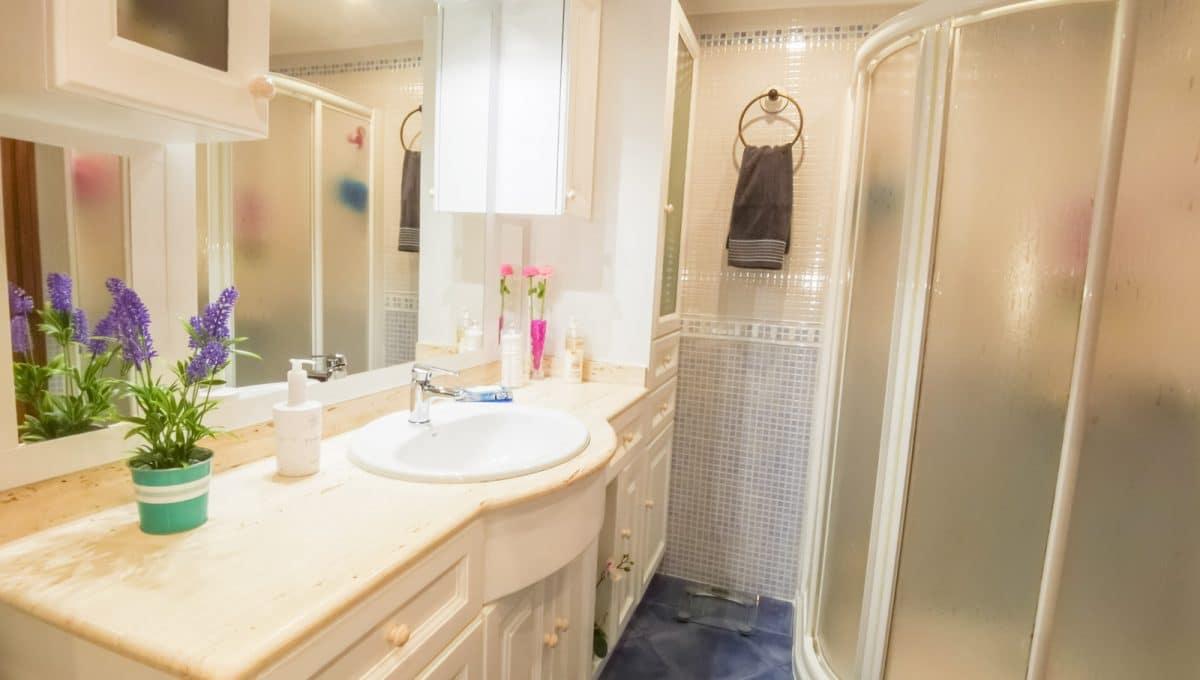 Badezimmer mit duche in Cala Egos