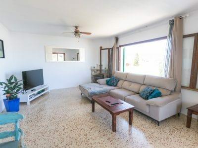 Sehr helle Wohnzimmer mit Terrasse in Zentrum von Portocolom