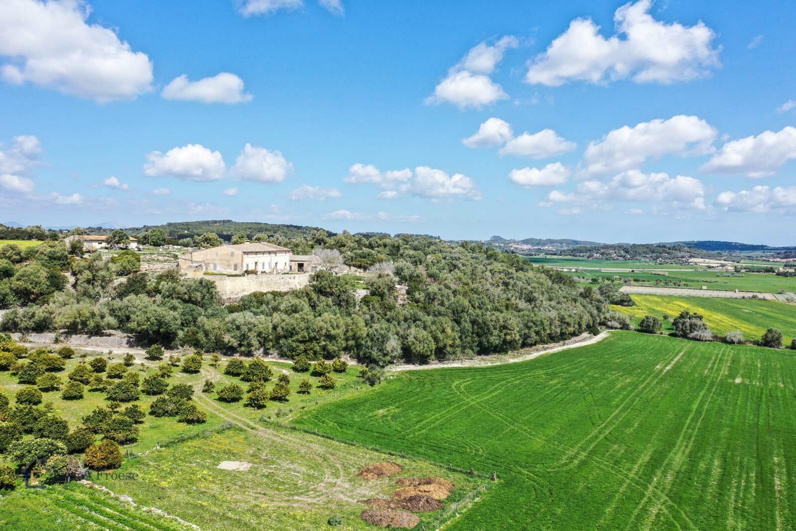 Riesiges Grundstück mit grosser Finca in Porreras
