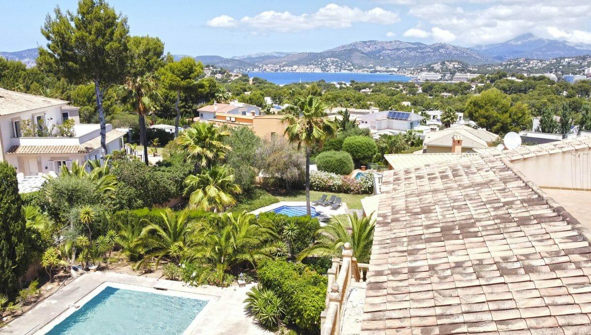 Weit Meerblick von eine Villa in Santa Ponsa